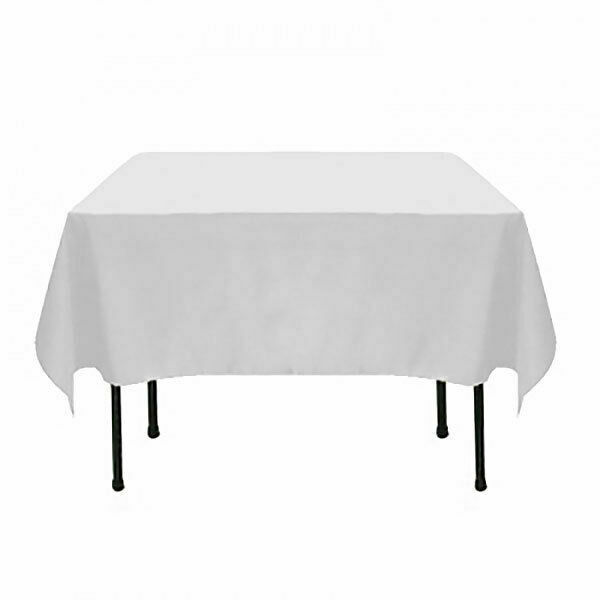 Bulk Lot 10x Square Table Cloths White Tablecloths Wedding