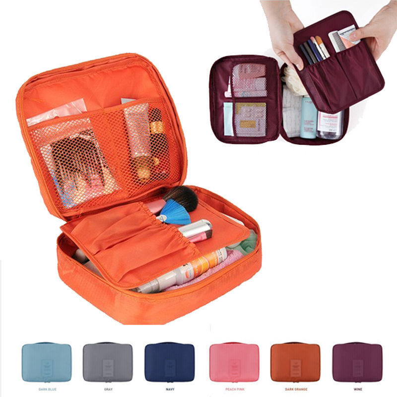 Travel Cosmetic Makeup Toiletry Case Wash Organizer