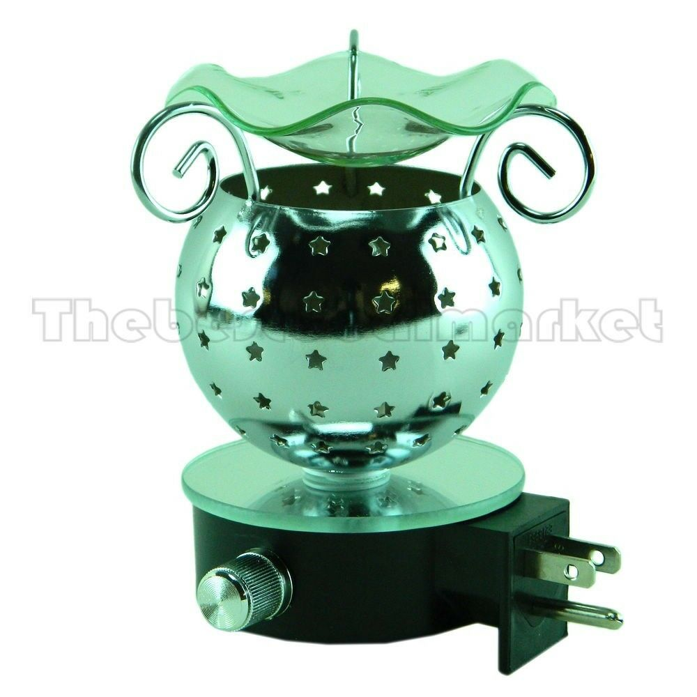 Plug In Diffuser : Metal essential wall plug in oil diffuser fragrance tart
