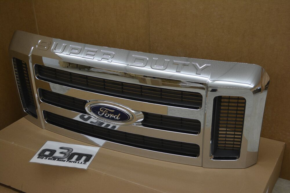 Ford F250 Parts >> 2008-2010 Ford Super Duty Front Chrome Radiator Grille new OEM 8C3Z-8200-BA | eBay
