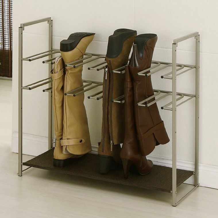 boot rack stackable shoe organize stand shelf neat storage