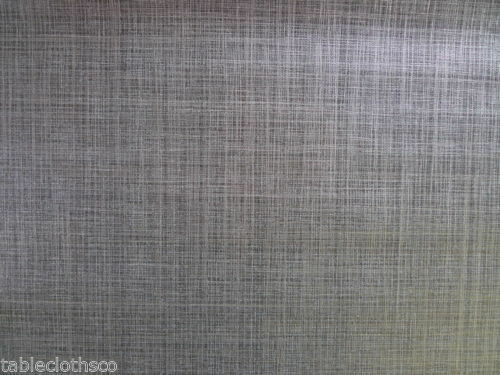 Grey Vinyl Oilcloth Wipeable Pvc Wipe Clean Table Cloth Co