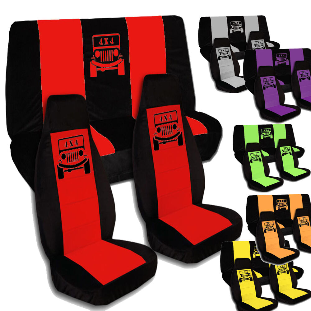 4 X 4 Front And Rear Seat Covers For 2011 2012 Jeep