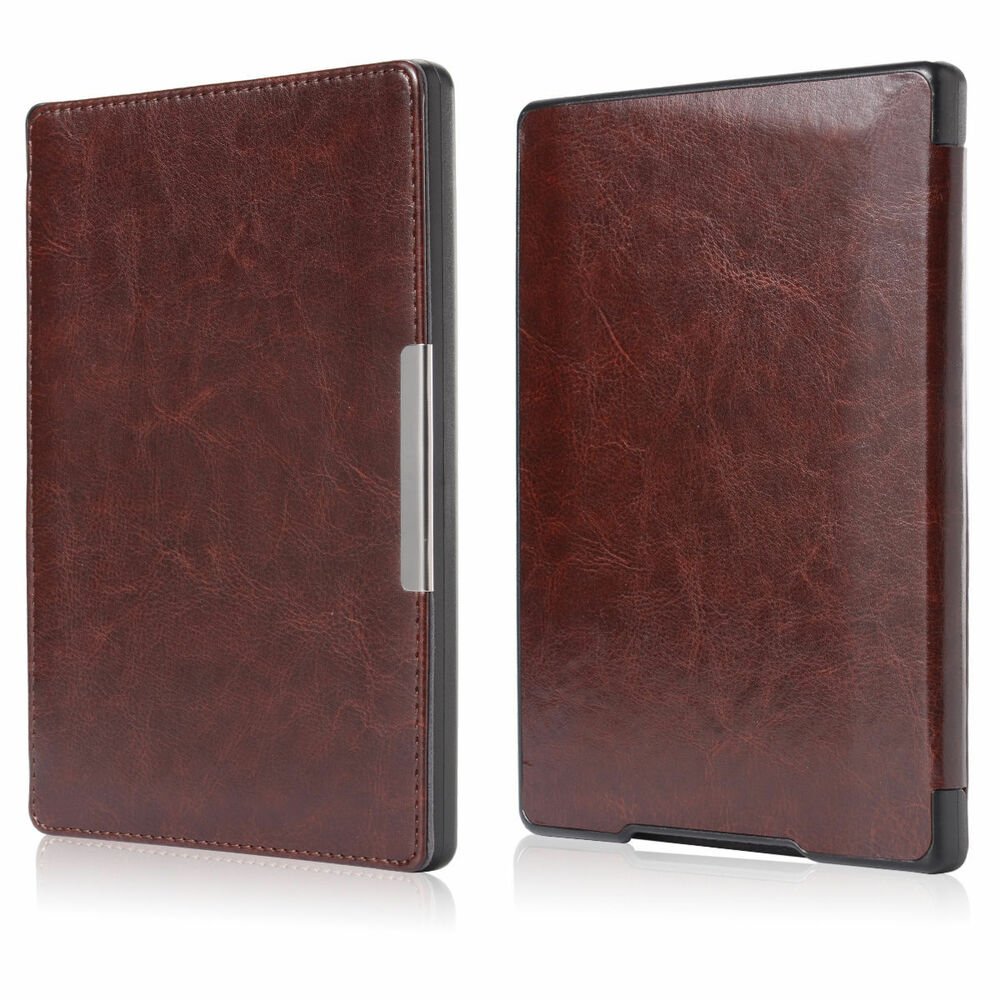 Slim leather magnetic auto sleep cover case for kobo aura for Housse kobo aura h2o edition 2