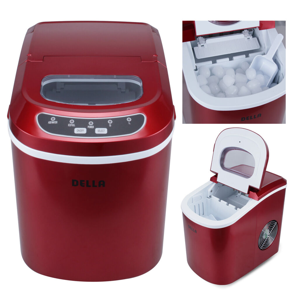 Deluxe 26 Lbs Day 2 Size Portable Counter Ice Cube Maker