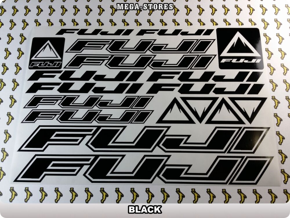 Fuji Stickers Decals Bicycles Bikes Cycles Frames Forks