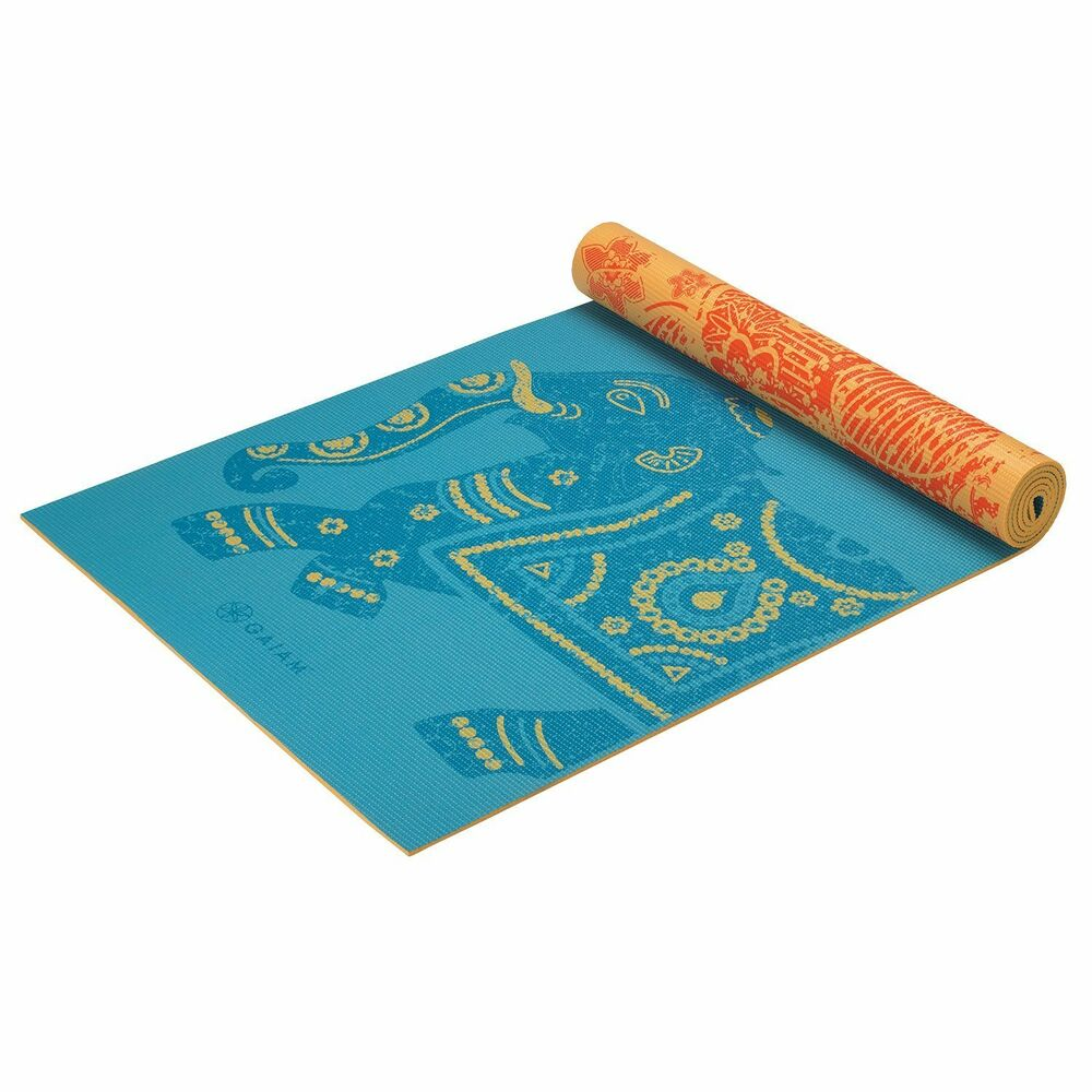 Yoga Mat Non Slip Surface 5mm Print Premium Reversible