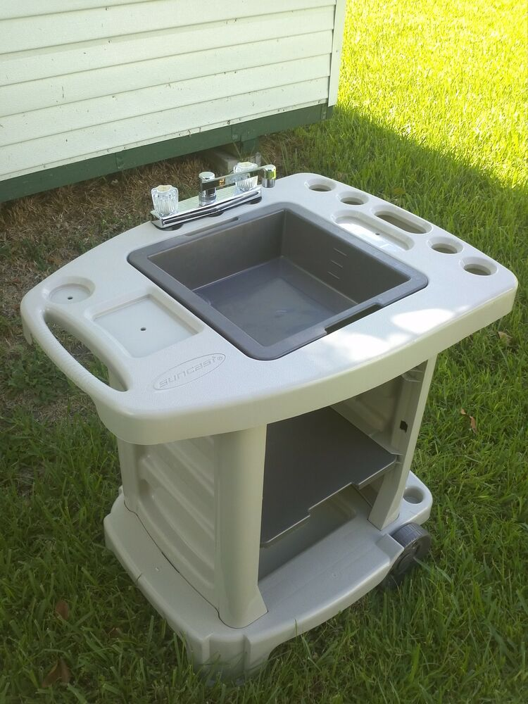 Portable Outdoor Sink Garden Camp Kitchen Camping RV New ... on Outdoor Patio Sink id=73153