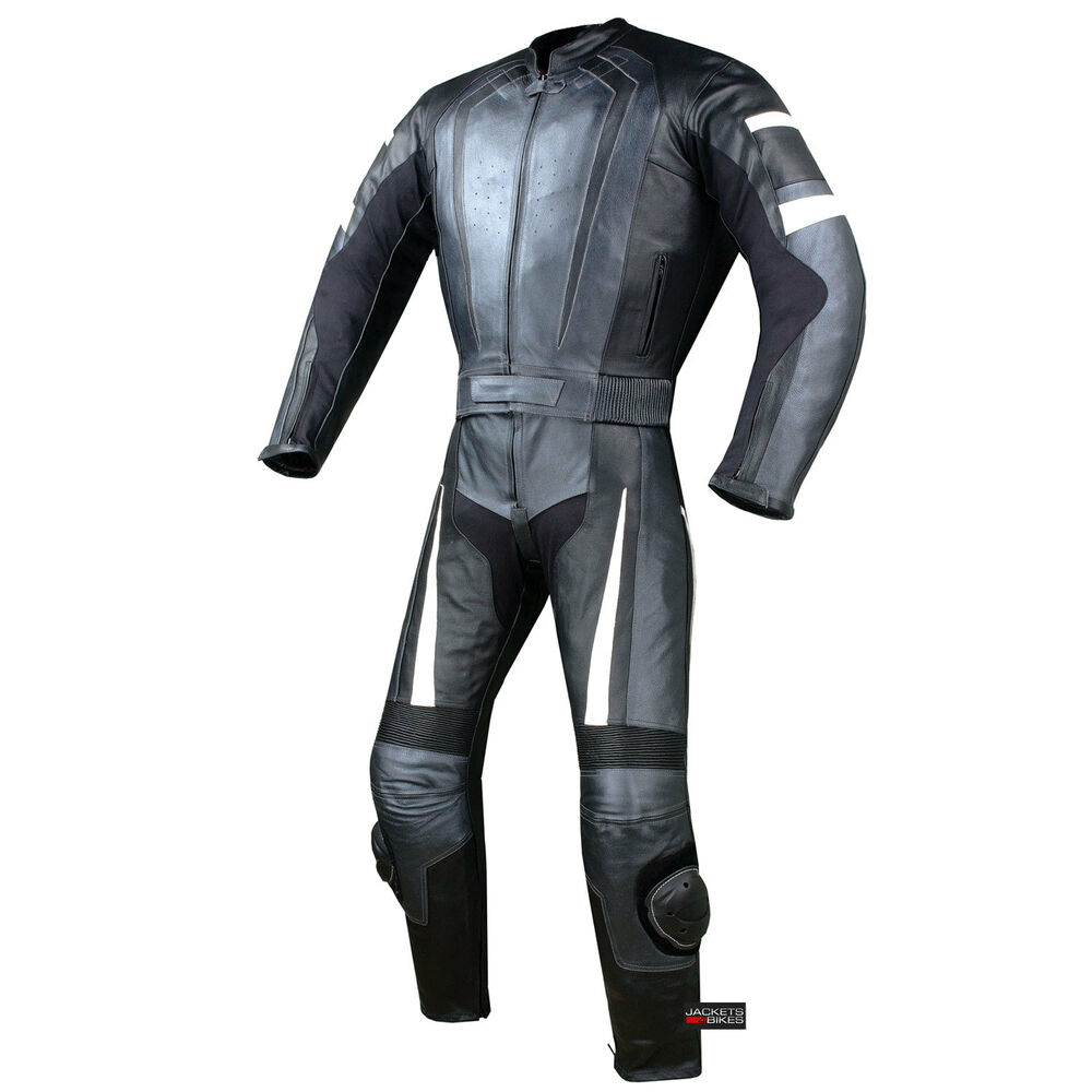 2PC HUMP MOTORCYCLE 2 PC LEATHER RACING SUIT ARMOR GM   eBay