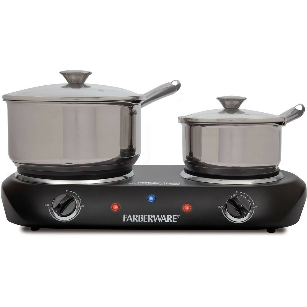 electric stove top high powered 2 burners cooktop range oven hot plate black ebay. Black Bedroom Furniture Sets. Home Design Ideas