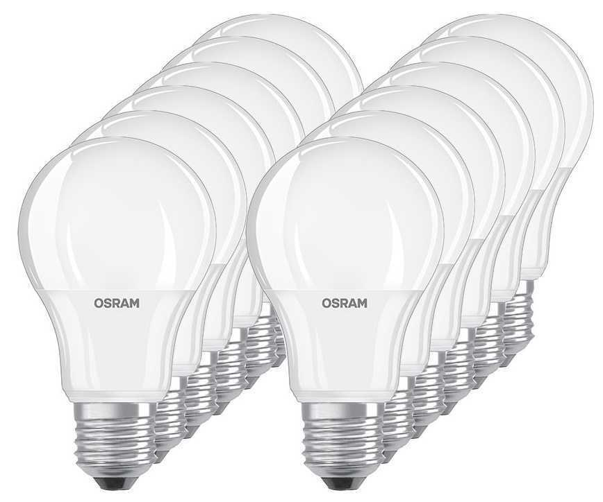 12er pack osram led base a60 e27 9 5w 2700k warmwei led. Black Bedroom Furniture Sets. Home Design Ideas