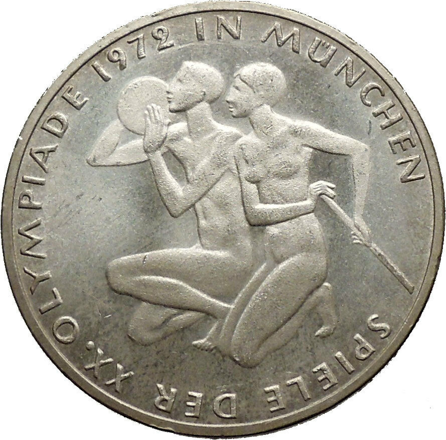 1972 germany munich summer olympics xx athletes on 10 mark silver coin i53631 ebay. Black Bedroom Furniture Sets. Home Design Ideas