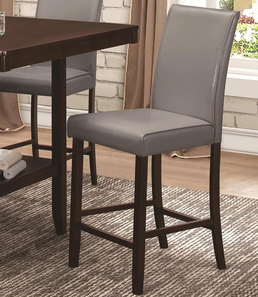 Set Of 2 Kitchen Counter Height Chairs With Microfiber: Fattori Gray Counter Height Parsons Dining Chair By