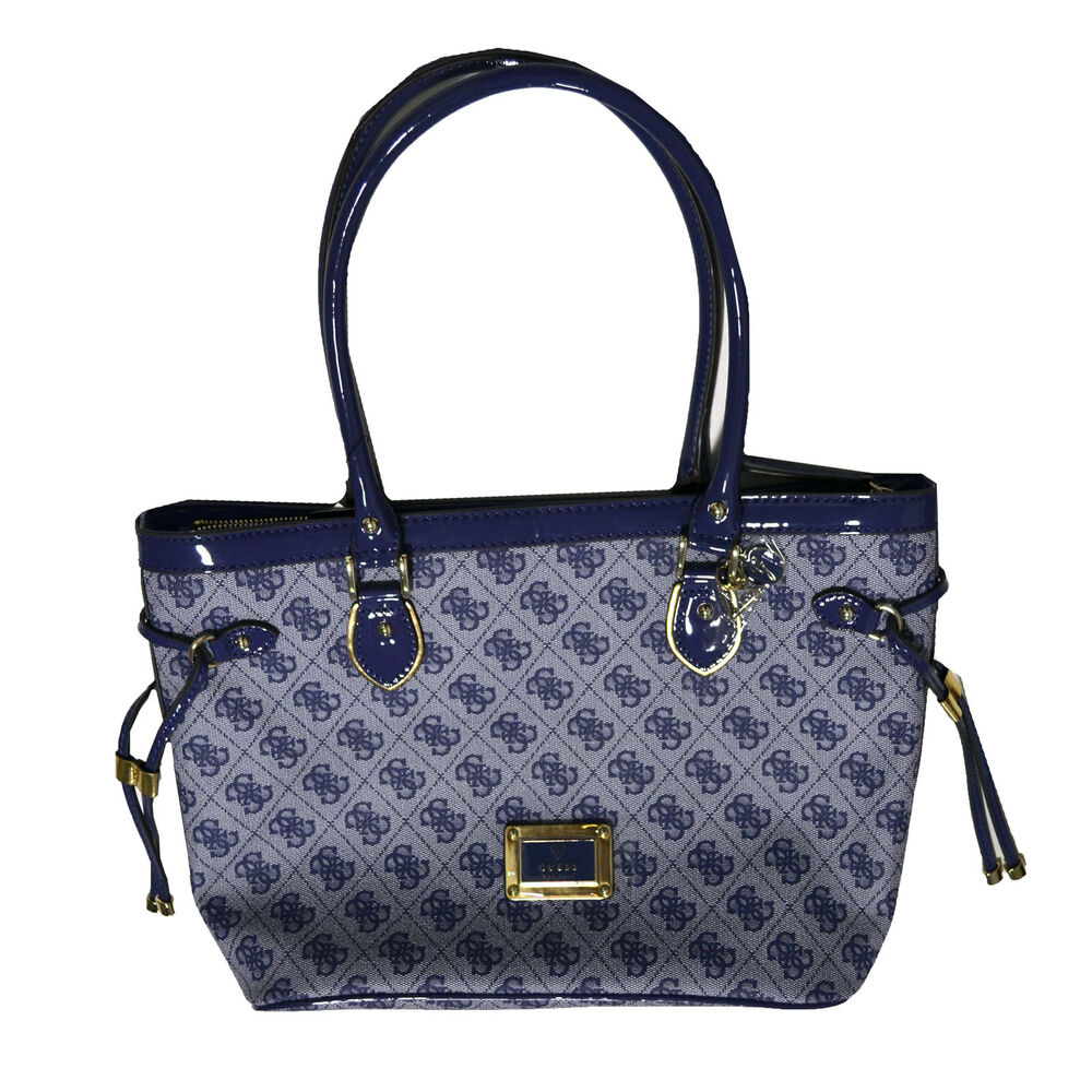 4aa569dbf383 Guess Handbag Purse Shopper Reama Blueberry Shoulder Bag Tote Logo Sg425822  | eBay