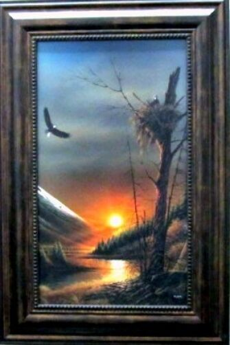 Terry Redlin Flying Free Framed Textured Eagle Print Ebay