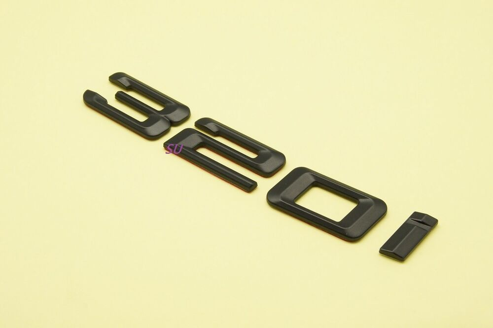 black 320i rear trunk letters badge emblem for bmw 3. Black Bedroom Furniture Sets. Home Design Ideas