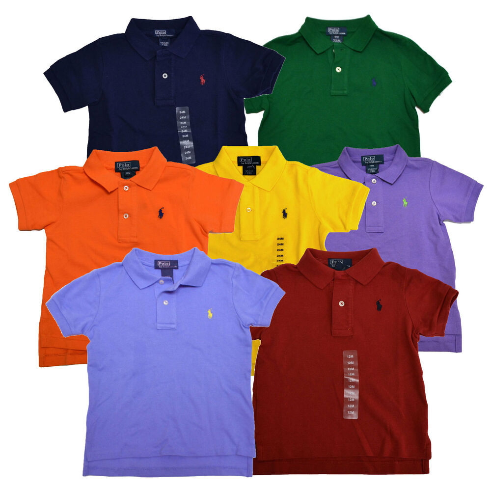 Polo ralph lauren shirt boys infant toddler polo pony logo for Toddler boys polo shirts