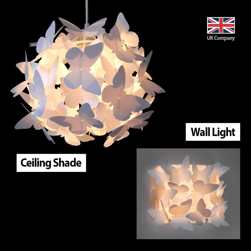 Wall Night Light Target : Matching Butterfly Ceiling Pendant Light Chandelier Lamp Shade & Wall Light NEW eBay