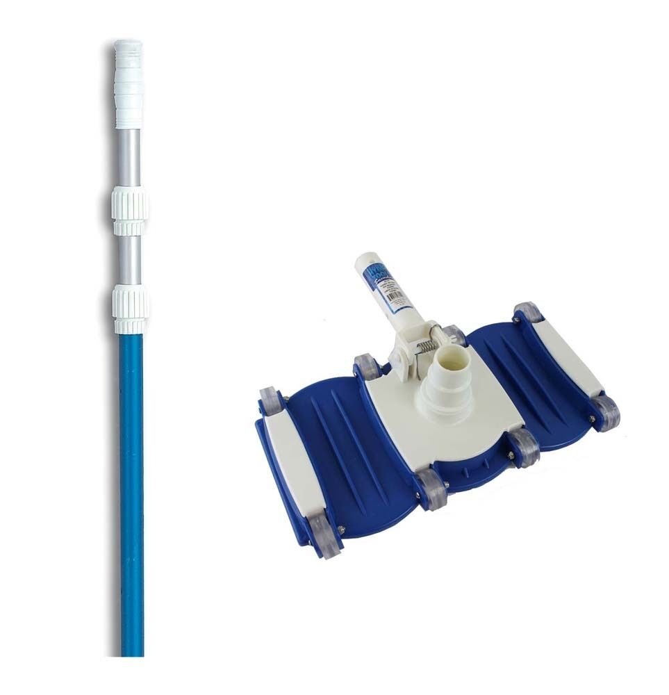 Hydrotools 8150 Swimming Pool Vacuum Cleaner Vac Head W 5 39 15 39 Telescopic Pole Ebay