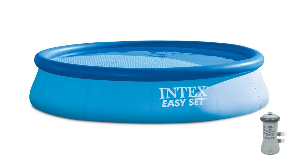 Intex 13 39 X 32 Easy Set Above Ground Swimming Pool Kit 530 Gph Filter Pump Ebay