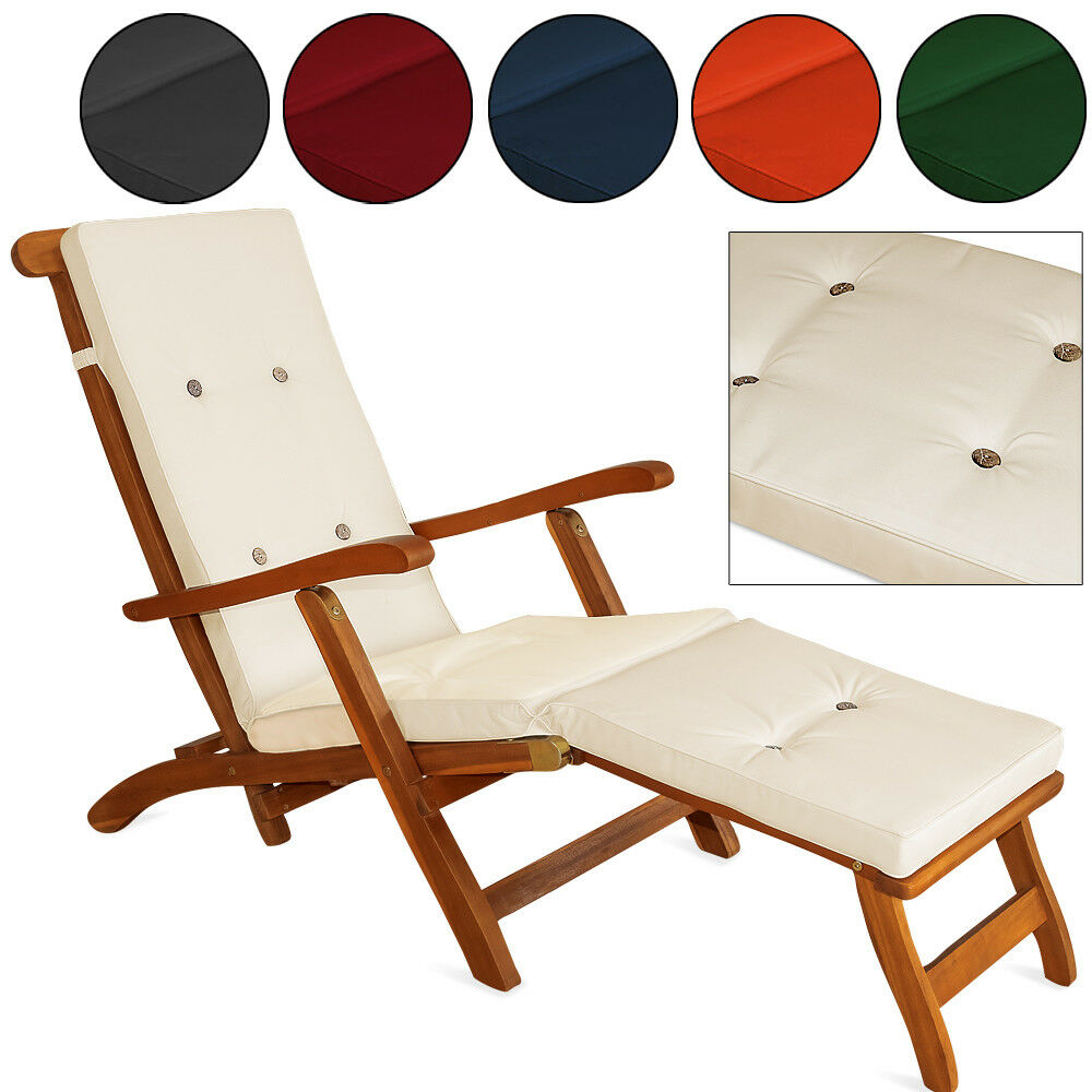 detex auflagen liegen stuhlauflage liegenauflage kissen deckchair sonnenliege ebay. Black Bedroom Furniture Sets. Home Design Ideas