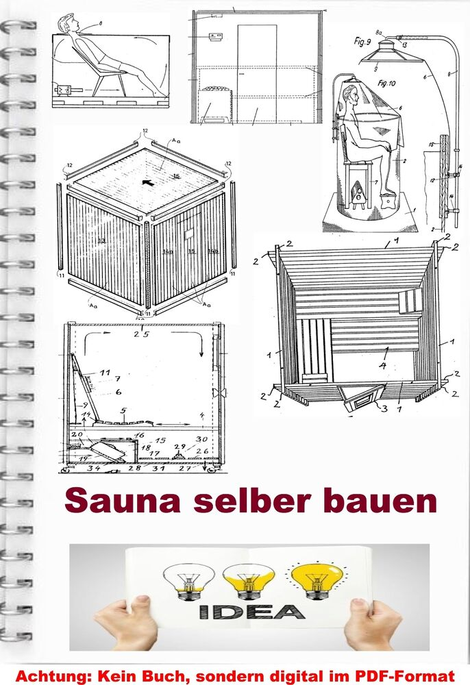 sauna construire sauna technique sur 690 plans sweatbath brevet collection pdf ebay. Black Bedroom Furniture Sets. Home Design Ideas