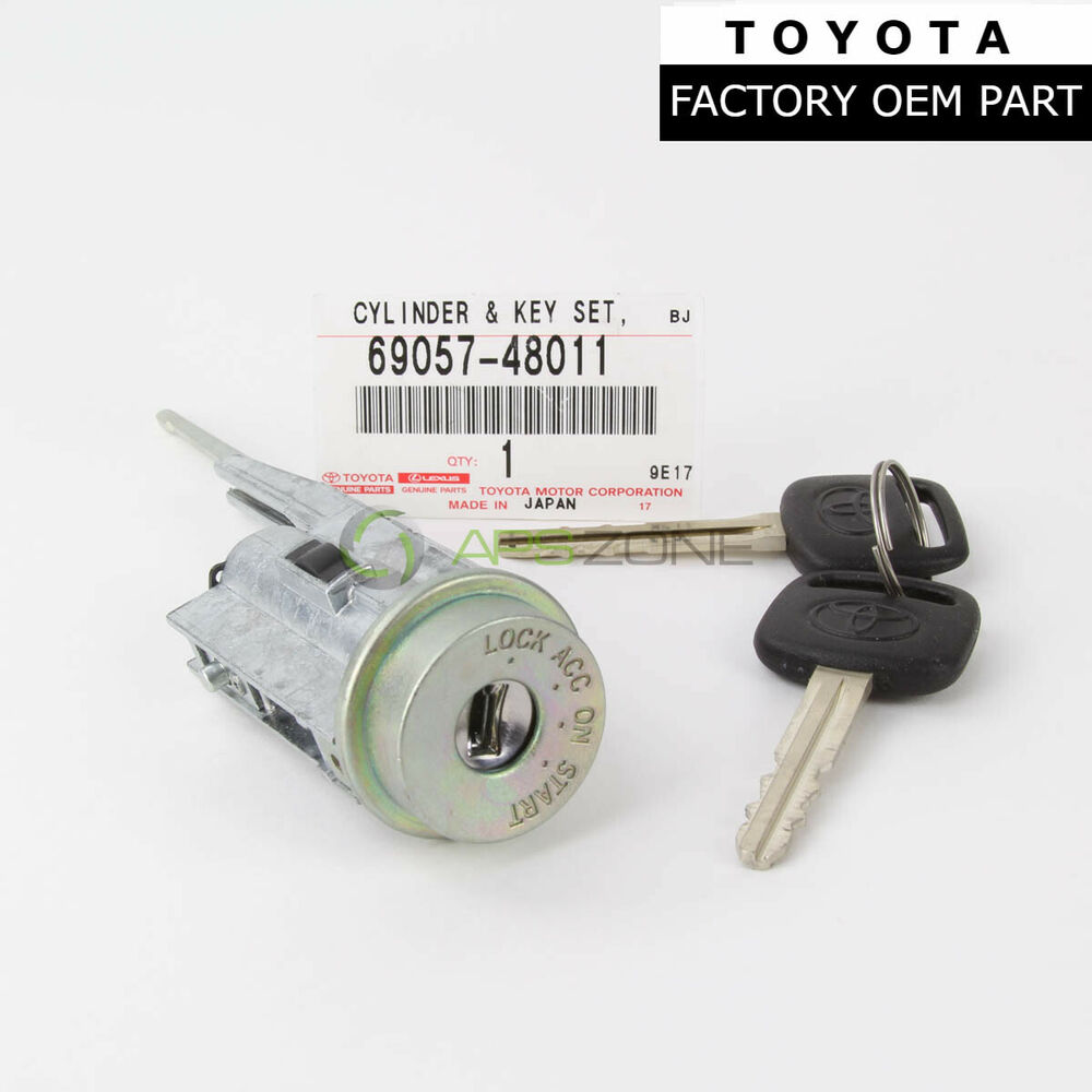 genuine toyota oem camry solara ignition cylinder and keys 69057 48011 ebay. Black Bedroom Furniture Sets. Home Design Ideas