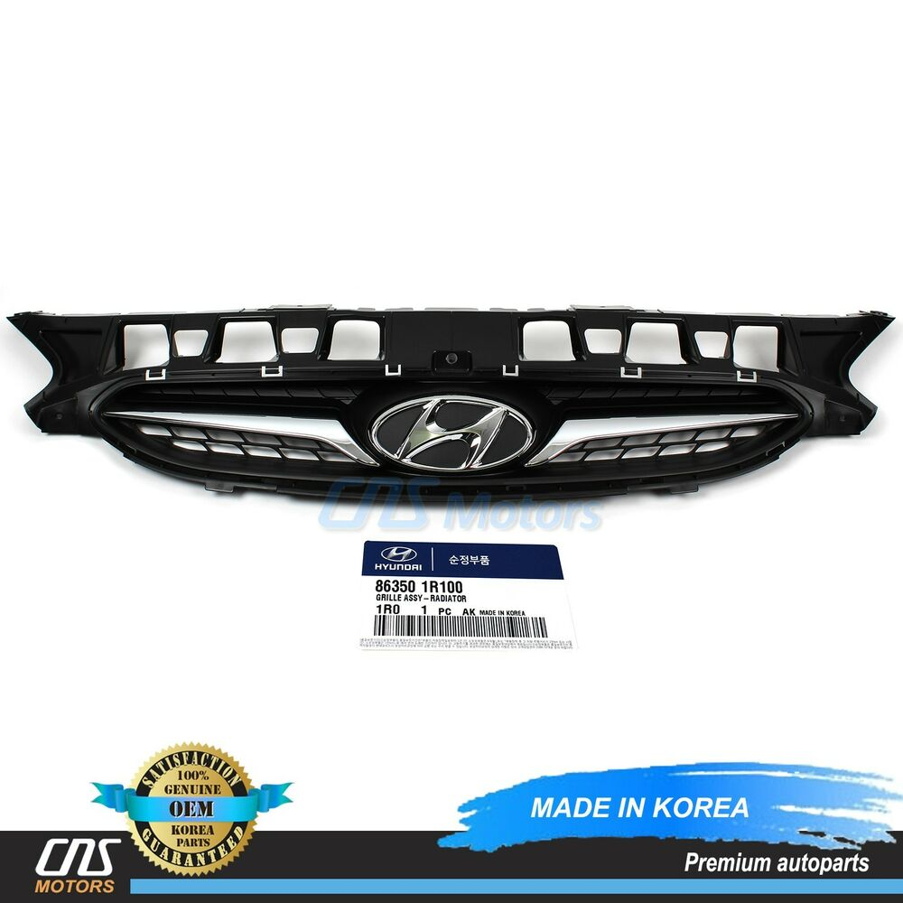 Genuine Front Upper Center Grille Fits 13 14 Hyundai