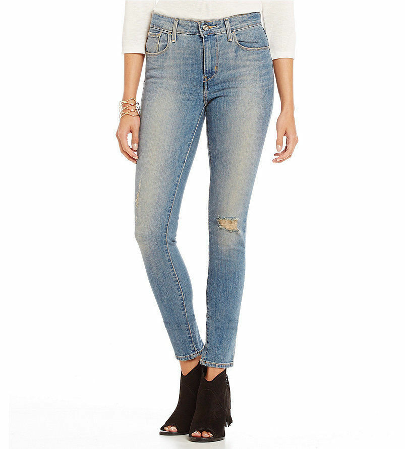 Womens Levi's High Rise Skinny Jeans Distressed 19970-0187 ...