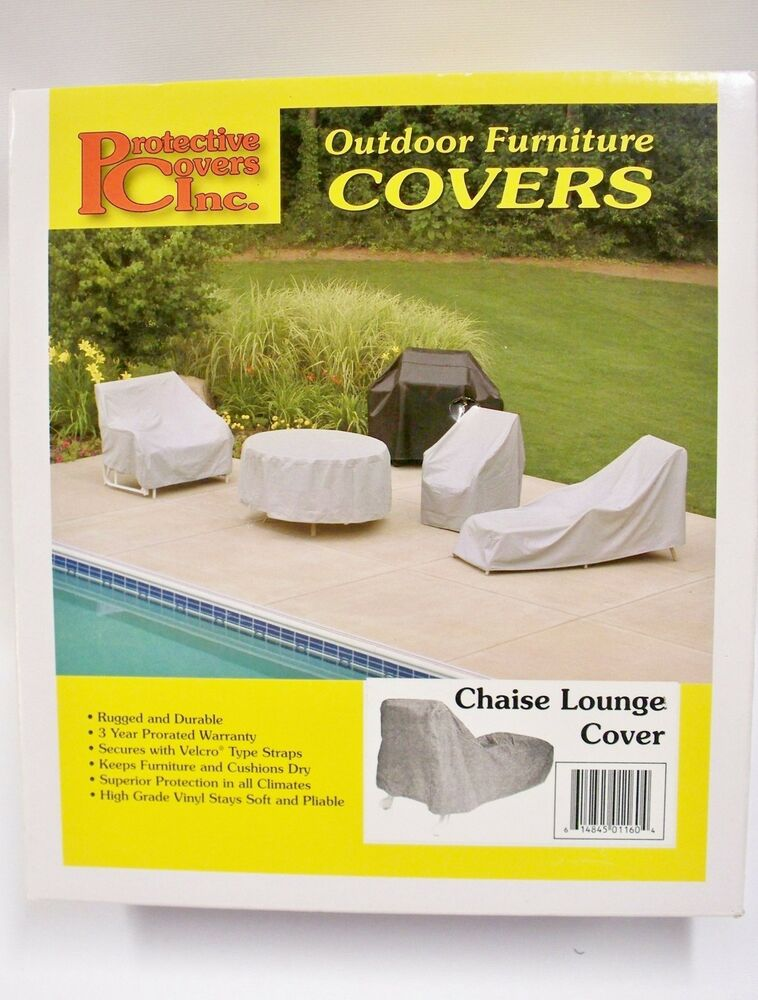 Chaise Lounge Vinyl Cover Outdoor Patio Furniture Protector