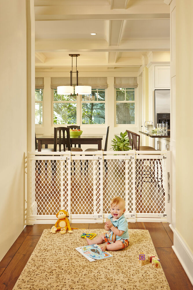 north states extra wide supergate baby pet safety play. Black Bedroom Furniture Sets. Home Design Ideas