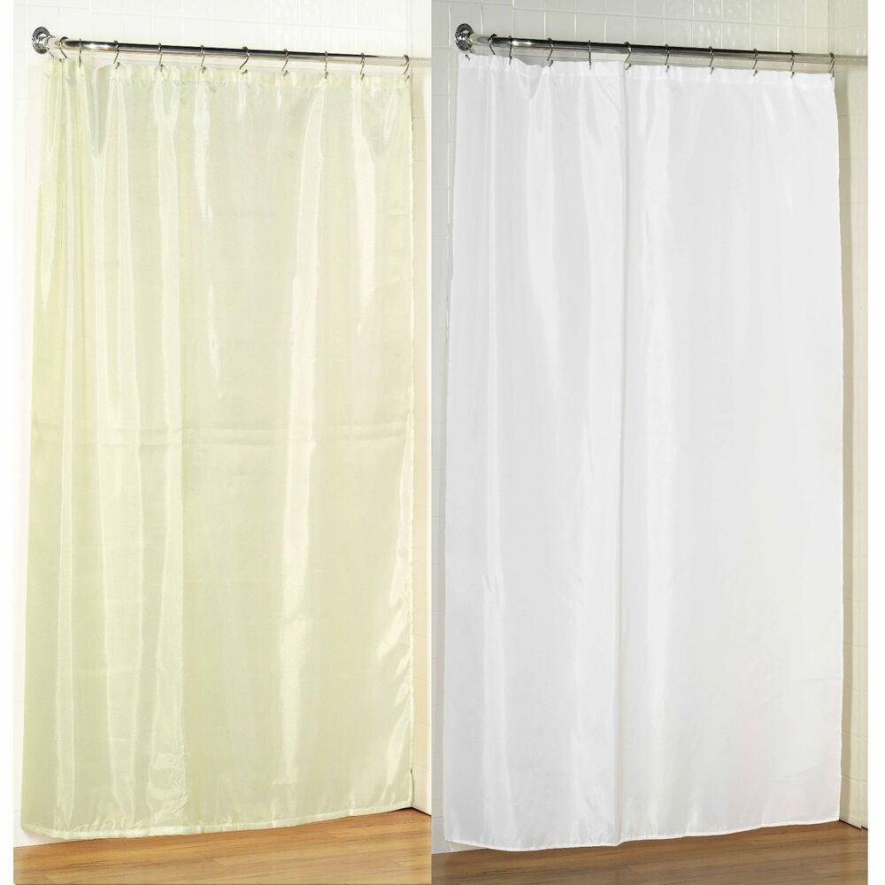 Stall Size Fabric Shower Curtain 54 W X 78 L Weighted