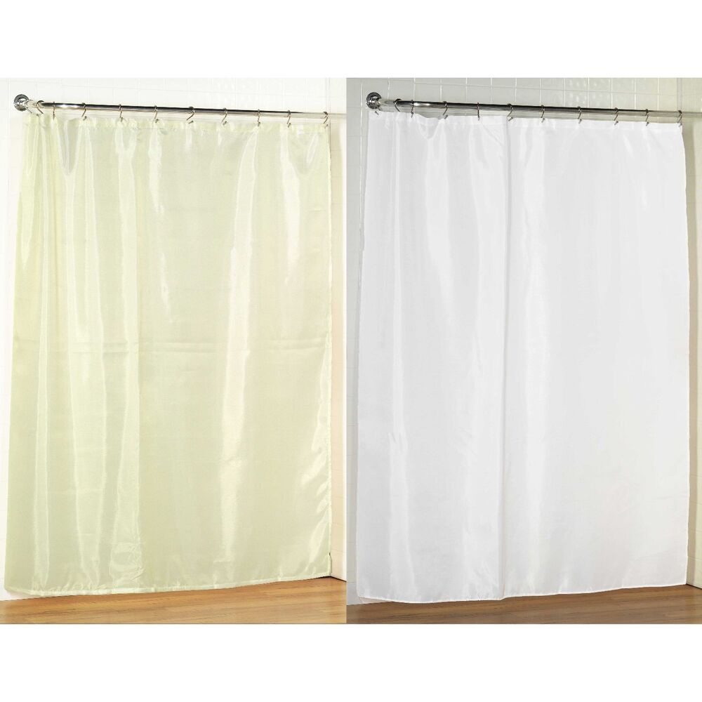 standard size fabric shower curtain 70 w x 72 l weighted hem water resistant ebay. Black Bedroom Furniture Sets. Home Design Ideas