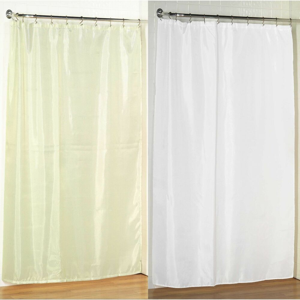 84 long size fabric shower curtain 70 w x 84 l weighted. Black Bedroom Furniture Sets. Home Design Ideas