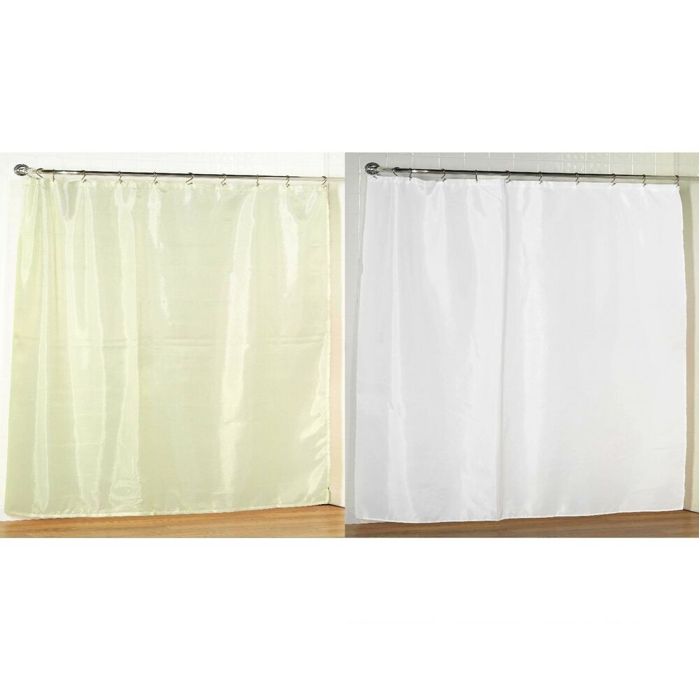 Extra Wide Fabric Shower Curtain 108 W X 72 L Weighted Hem Water Resistant Ebay