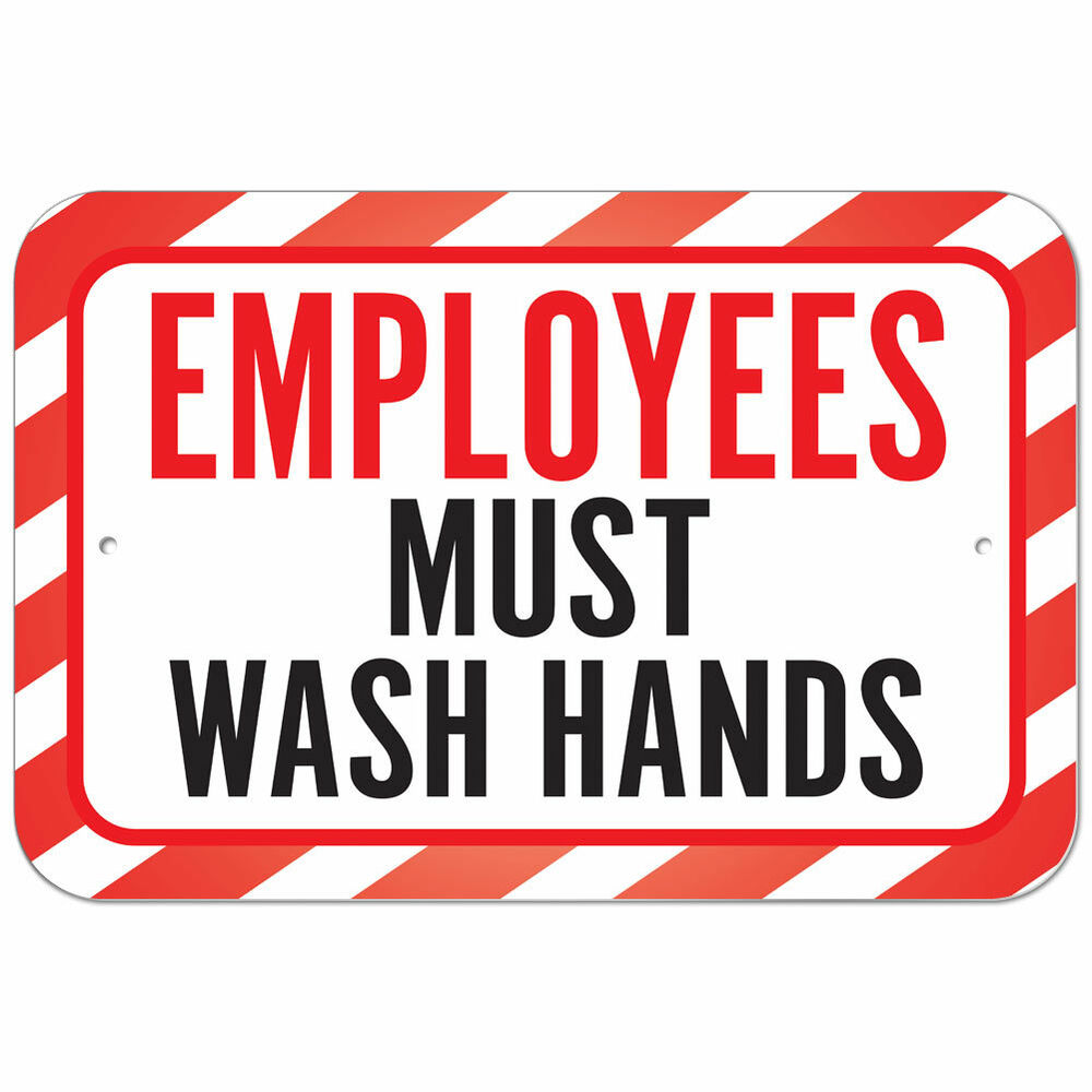 employees wash hands sign - photo #26