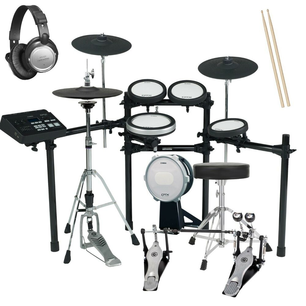 Yamaha dtx720k electronic drum set drum essentials bundle for Yamaha dtx450k electronic drum set