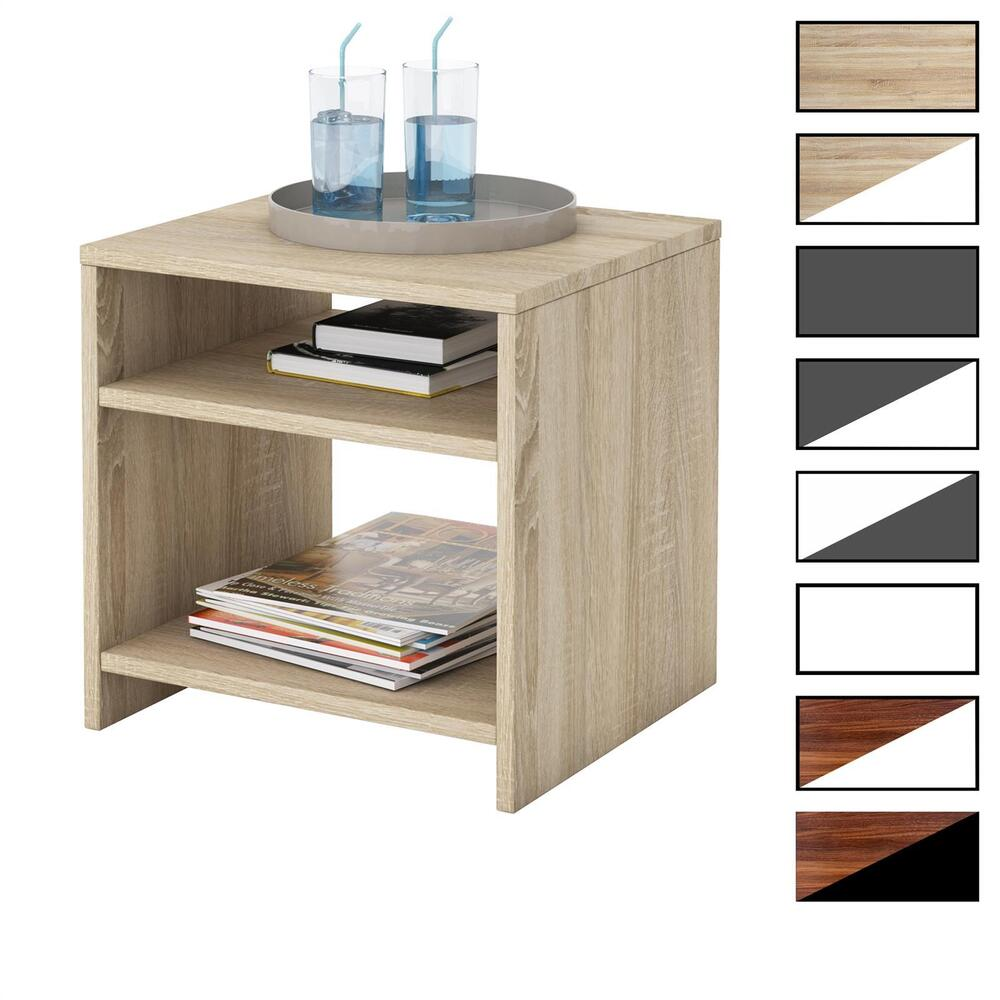 nachttisch nachtschrank kommode konsole beistell mit 2 f chern ebay. Black Bedroom Furniture Sets. Home Design Ideas