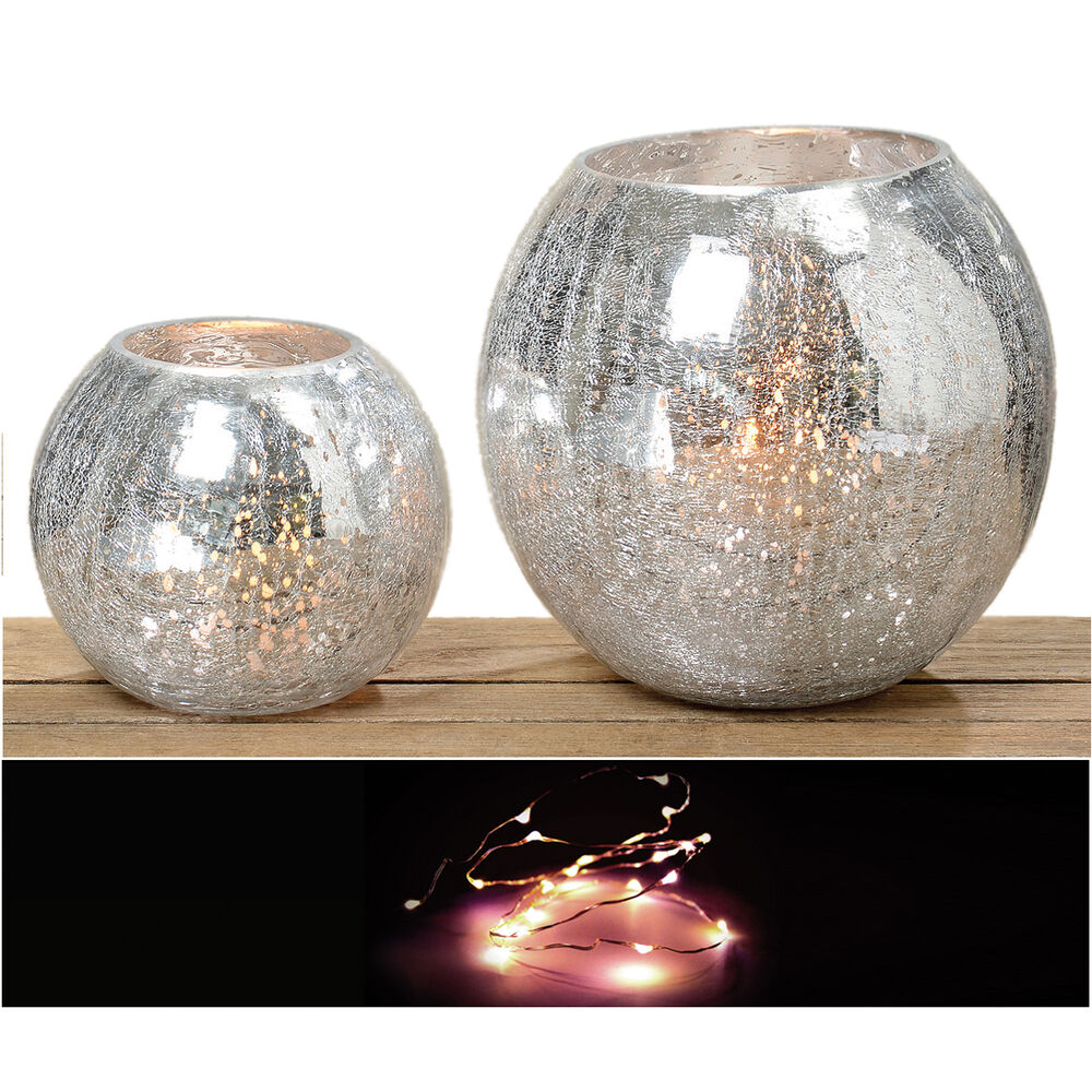 windlicht crackle optik glas teelichthalter silber vase kerzenhalter teelicht ebay. Black Bedroom Furniture Sets. Home Design Ideas