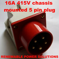 16A AMP 415V SURFACE INLET PLUG MALE  RED 3 PHASE HT515 MACHINE POWER CONNECTOR
