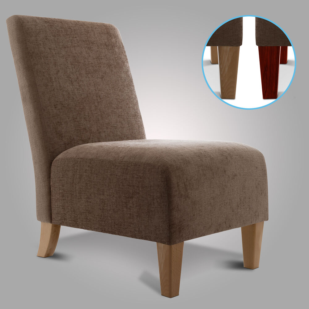 new bedroom accent chair small occasional armchair chenille fabric ebay