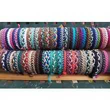 1 Hemp ANKLET or 1 Hemp BRACELET Men Women Hippie Surfer Hemp YOU CHOOSE COLORS