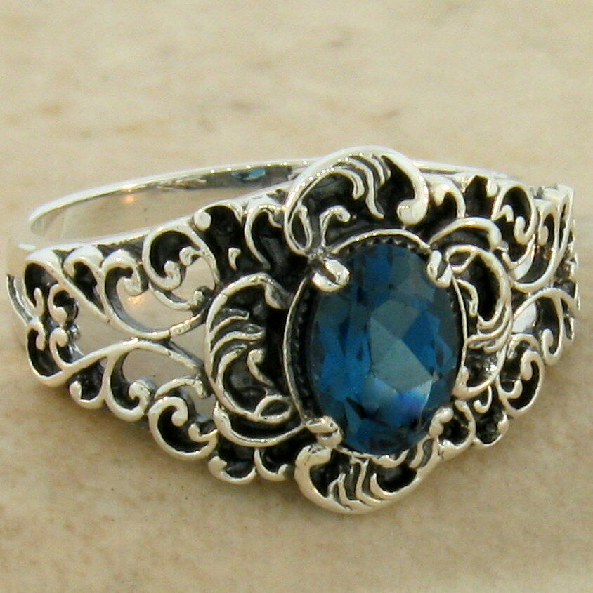 Antique London Blue Topaz Rings
