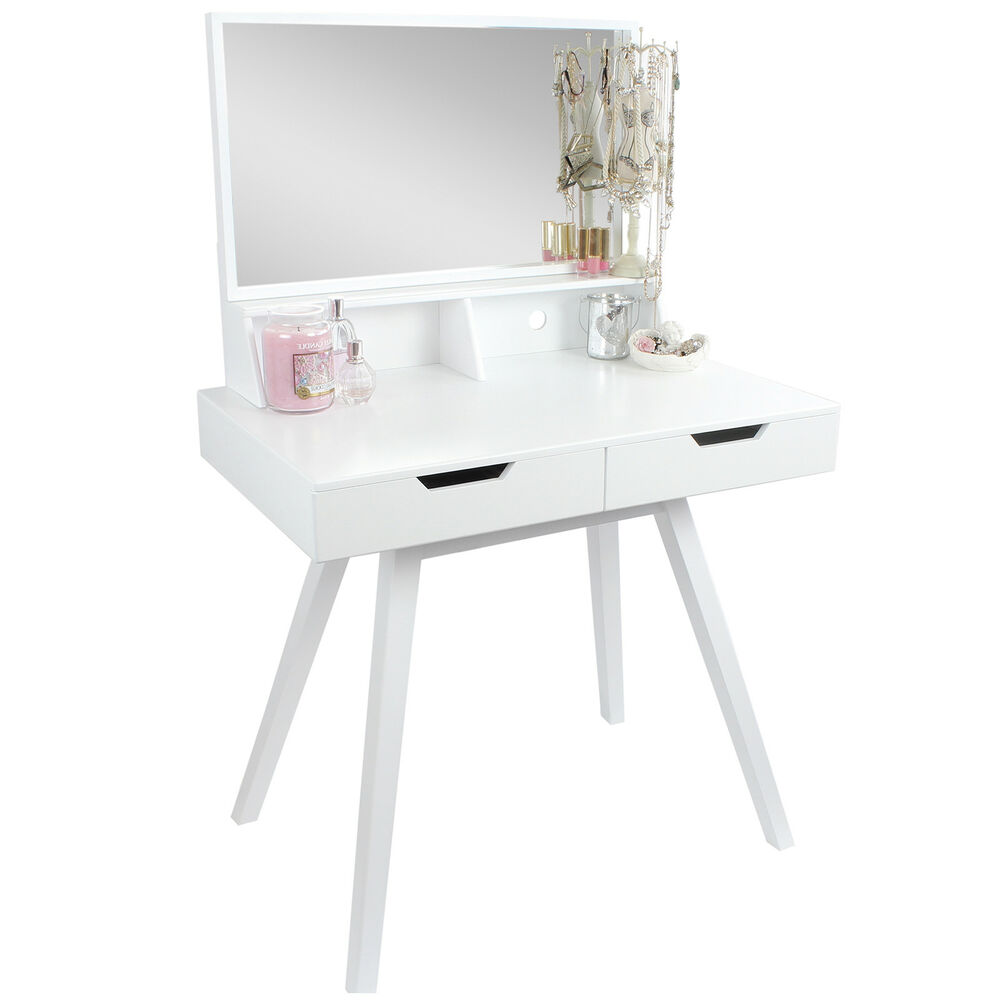 Hartleys white dressing table makeup jewellery storage for White makeup desk with mirror
