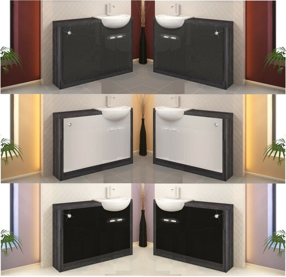 Grey Bathroom Furniture Uk: Bathroom Furniture Vanity Cabinet Storage Unit With Toilet