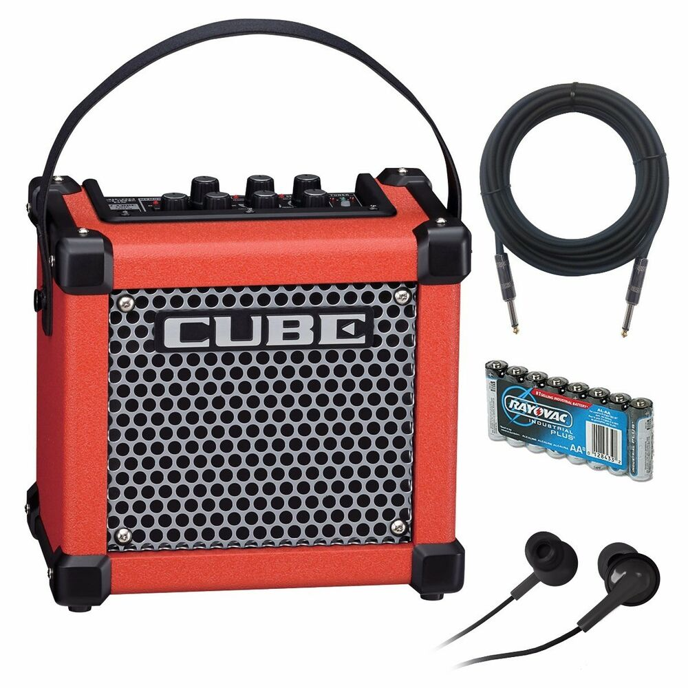 roland micro cube gx battery powered guitar amplifier red amp pak ebay. Black Bedroom Furniture Sets. Home Design Ideas