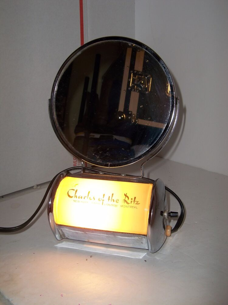 vintage charles of the ritz make up vanity mirror with light and plug works ebay. Black Bedroom Furniture Sets. Home Design Ideas