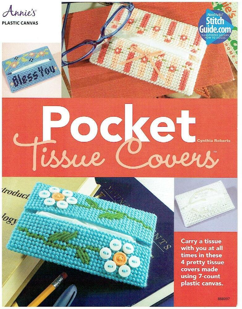 Pocket tissue covers plastic canvas pattern leaflet 963 for Cross in my pocket craft