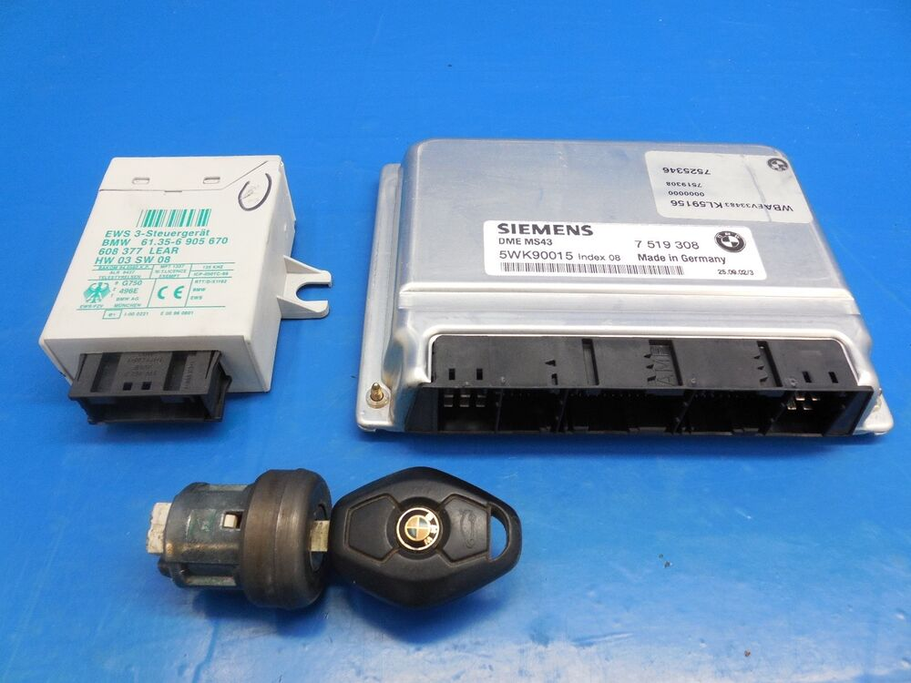 Bmw E39 525i 530i M54 Ms43 Dme Ecu Ews Module Key Amp Ignition Tumbler Ebay