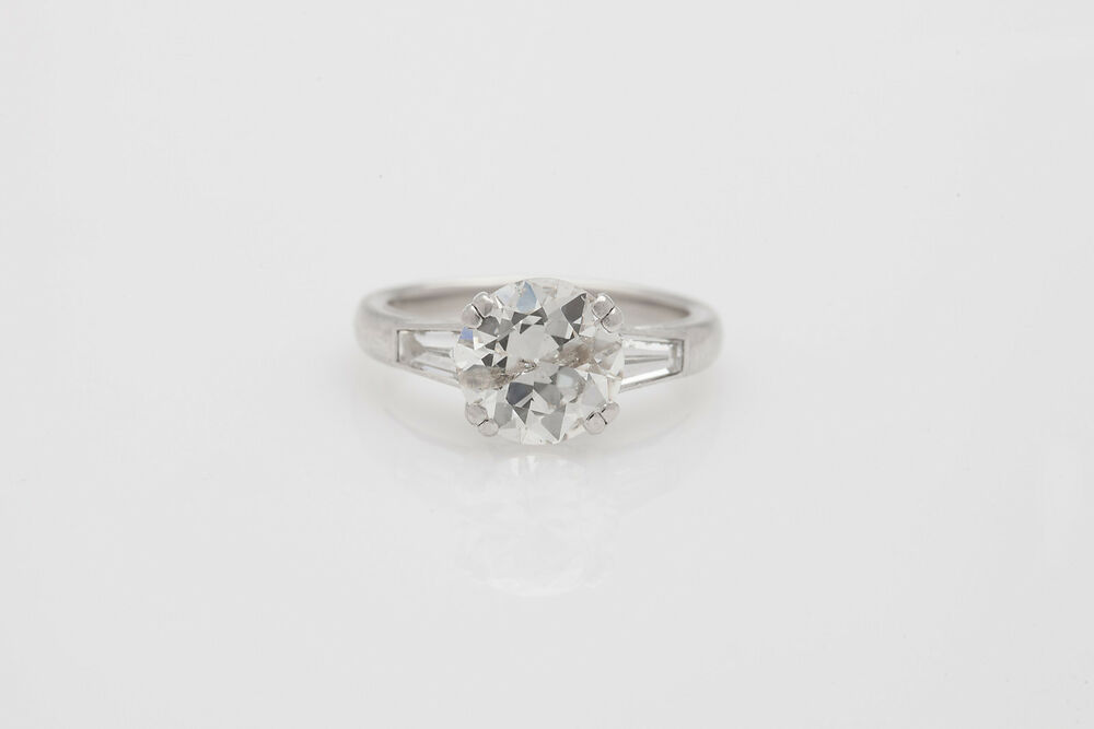 estate signed 40000 robert 320ct round brilliant With 40000 wedding ring